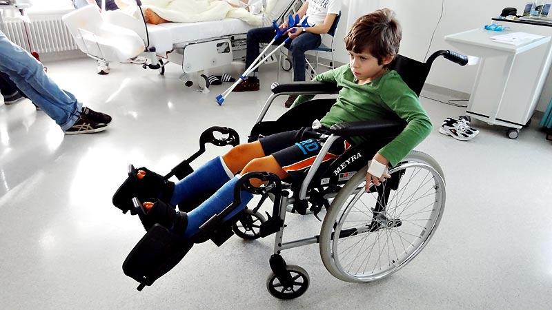 Im Rollstuhl ist's doch einfacher als zu Fuss