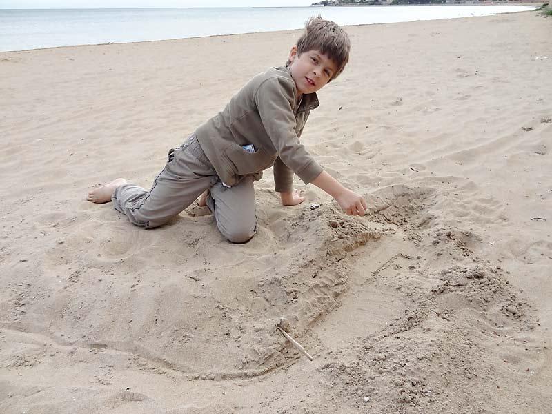 Und hier die Beachkonstruktion